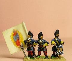 Grenadier w/Fur Cap - Officer, Standard Bearer, & Drummer