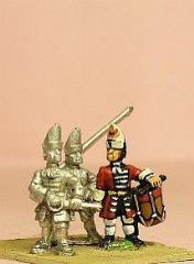 Grenadier w/Mitre - Officer, Standard Bearer, & Drummer