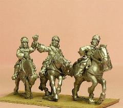 Dragoons in Fur Cap w/Officer, Standard Bearer, & Drummer