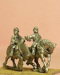 Mounted Grenadier w/Officer, Standard Bearer, & Drummer (French)