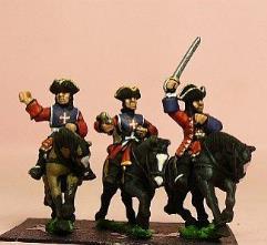 Mounted Musketeers w/Officer, Standard Bearer, & Trumpeter