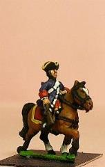 Line Cavalry in Tricorne in Plain Unifrom w/Coat Open