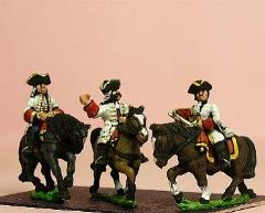 Line/Guard Cavalry w/Officer, Standard Bearer, & Trumpeter