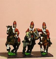 Mounted Grenadier in Mitre w/Officer, Standard Bearer, & Drummer