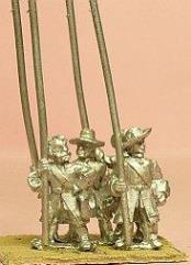 Grenadiers w/Fur Cap & Hanging Bag - Pikemen, Assorted