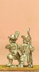 Infantrymen in Long Coat & Wide Brim Hat w/Improvised Weapons - Assorted