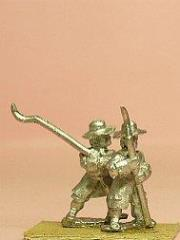 Infantrymen in Long Coat & Wide Brim Hat w/Lochaber Axe & Scythes - Assorted