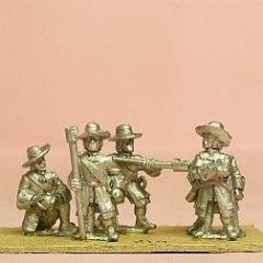 Artillerymen in Long Coat & Wide Brim Hat - Assorted