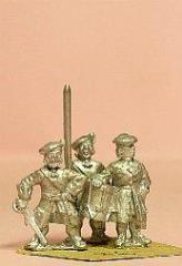 Scots Musketeers - Officer, Standard Bearer, Drummer