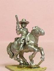 Cavalry/Dragoons in Wide Brim Hats - Holding Pistol