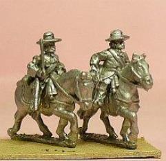 Cavalry/Dragoons in Wide Brim Hats - Holding Sword & Slung Carbine