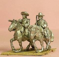 Cuirassier in Wide Brim Hat