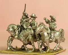 Cuirassier in Wide Brim w/Officer, Standard Bearer, Trumpeter