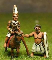 Mounted Pharaoh w/Bodyguards on Foot