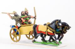 Chariot w/Driver, Archers & Javelinman