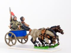 2 Horse Chariot w/Driver, General & Javelinman