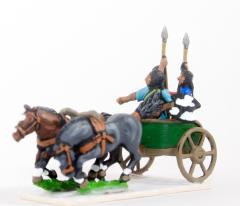 2 Horse Chariot w/Driver & 2 Javelinmen