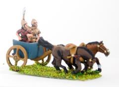2 Horse Chariot w/Driver & Longspearman