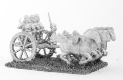 4 Horse Chariot w/Driver & 3 Archers