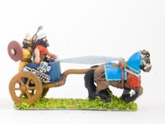 2 Horse Chariot w/Driver, General & Shield Bearer