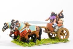 4 Horse Chariot w/Driver, General & Shield Bearer