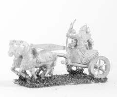 2 Horse Chariot w/Driver, Archer & Shield Bearer