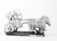 3 Horse Chariot w/Driver, Archer & Shield Bearer
