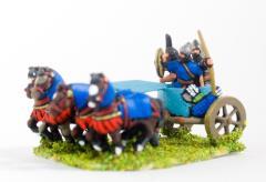 4 Horse Chariot w/Driver, Archer & Shield Bearer