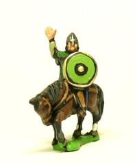 Heavy Cavalry in Mail w/Assorted Weapons & Round Shield