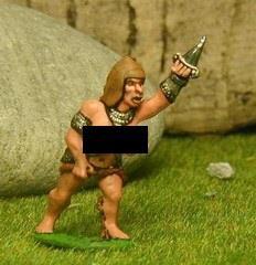 Amazon Warrior - Semi-Naked Gladiator w/Sword & Dagger
