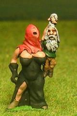 Amazon Warrior - Hooded Executioner w/Gnome Victim