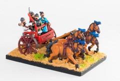 4-Horse Chariot w/Driver, General, Archer, & Halberdier