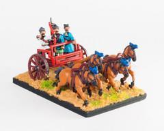 4-Horse Chariot w/Driver, Archer, & Halberdier - Heavy