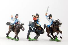 Command Pack - Light Dragoon Officer, Standard Bearer, & Trumpeter