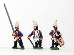 Command Pack - Grenadier Officer, Standard Bearer, & Drummer - Halted