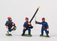 Garde Nationale/Garde Mobile Command - Officers, Standard Bearer, & Drummer
