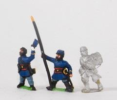 Chasseurs a Pied Command - Officers, Standard Bearers, & Drummers