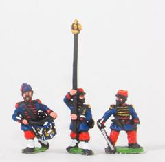 Grenadiers of the Guard Command in Bonnet de Police - Officers, Standard Bearers, Drummers