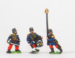 Command in Shako - Officers, Standard Bearers, & Drummers - Guard Voltigeurs