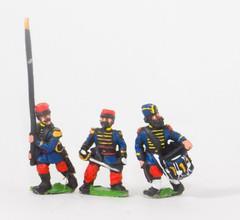 Guard Voltigeurs Command in Bonnet de Police - Officers, Standard Bearers, & Drummers