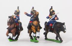 Cavalry Command - Dragoon Officer, Standard Bearer, & Trumpeter