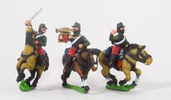 Cavalry Command - Chasseurs Officer, Standard Bearer, & Trumpeter