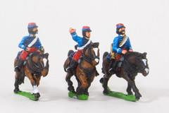 Cavalry Command - Lancer Officer, Standard Bearer, & Trumpeter