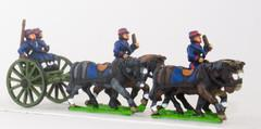 French Foot Artillery Limper w/4 Horses, 2 Drivers, 2 Gunner
