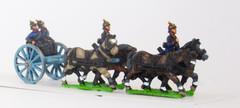 Prussian Foot Artillery Limper w/4 Horses, 2 Drivers, 2 Gunner