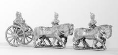 Prussian Horse Artillery Limber w/4 Horses, 2 Drivers, 2 Gunners