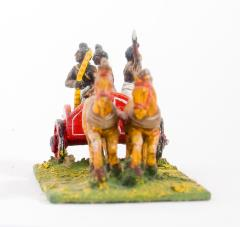 2 Horse Chariot w/Driver, Archer & Javelinman