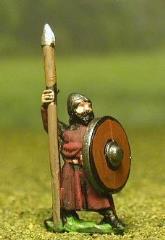 Isleman/Galloglaich w/Long Tunic, Round Shield, & Spear
