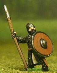 Isleman/Galloglaich w/Mail Coat, Round Shield, & Spear