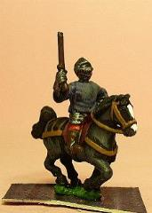 Millar Men-at-Arms w/Closed Helmets & Pistols on Unarmored Horse
